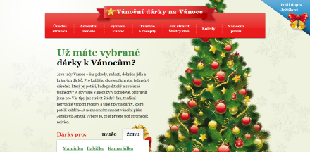 Vánoční microsite Parfums.cz