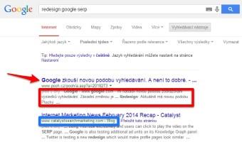 Google redesignoval zobrazení výsledků hledání