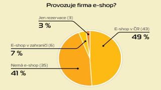 Polovina největších maloobchodníků neprovozuje e-shop