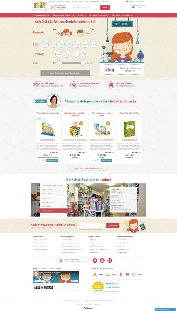Agátin svět homepage