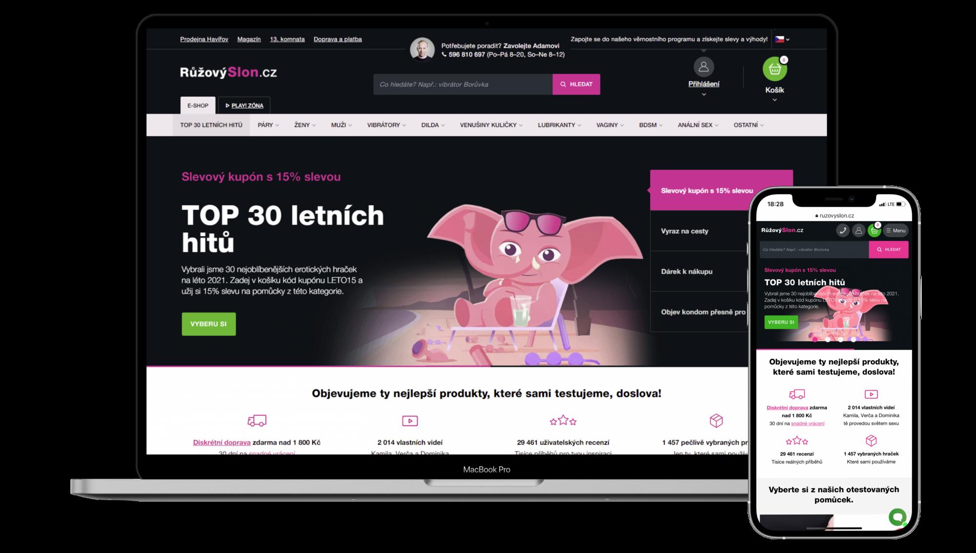 e-shop Růžový slon